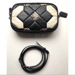Coach Canyon Quilt Exotic Crossbody in Leather